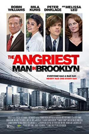 "Poster art for ""The Angriest Man in Brooklyn"""