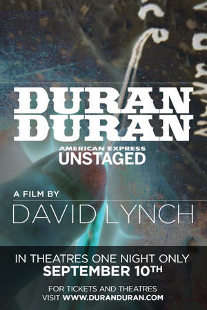 "Poster art for ""Duran Duran: Unstaged."""