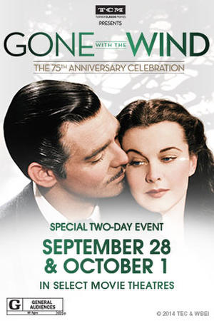 """Poster art for """"TCM Presents Gone with the Wind."""""""