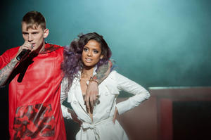 "Machine Gun Kelly and Gugu Mbatha-Raw in ""Beyond The Lights."""