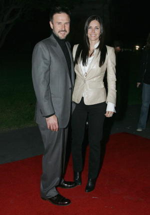 """David Arquette and wife Courtney Cox at the Los Angeles premiere of """"The Tripper"""""""