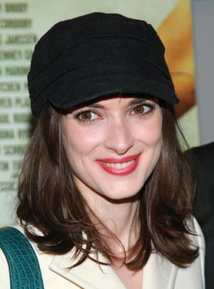 """""""The Ten"""" star Winona Ryder at the N.Y. premiere."""