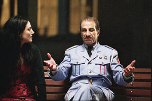 "Ronit Elkabetz as Dina and Sasson Gabai as Tewfiq in ""The Band's Visit."""