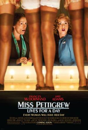 """Poster art for """"Miss Pettigrew Lives for a Day."""""""