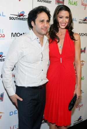 """George Maloof and Shannon Elizabeth at the Las Vegas premiere of """"Deal."""""""
