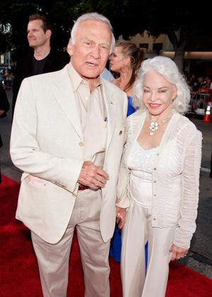 "Buzz Aldrin and his Wife Lois at the California premiere of ""Vicky Cristina Barcelona."""