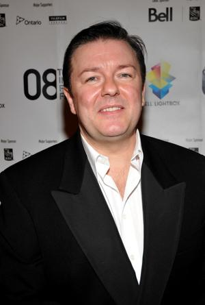 """Ricky Gervais at the Canada premiere of """"Ghost Town"""" during the 2008 Toronto International Film Festival."""