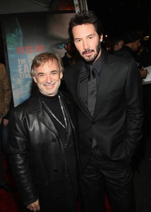 """Producer Erwin Stoff and Keanu Reeves at the New York premiere of """"The Day The Earth Stood Still."""""""