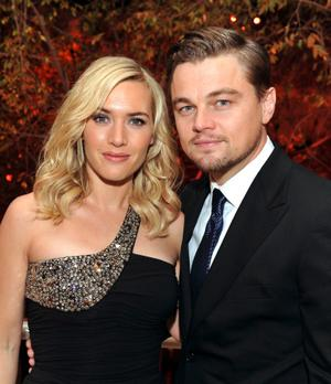 "Kate Winslet and Leonardo DiCaprio at the after party of the California premiere of ""Revolutionary Road."""