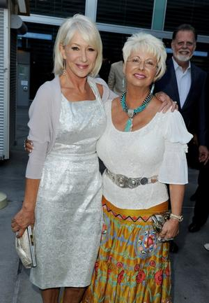 "Helen Mirren and Susan Austin at the California premiere of ""Love Ranch."""
