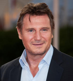 """Liam Neeson at the premiere of """"Taken 2"""" during the 38th Deauville American Film Festival."""