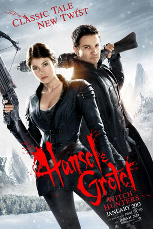 "Poster art for ""Hansel and Gretel: Witch Hunters 3D."""