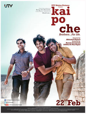 "Poster art for ""Kai Po Che."""
