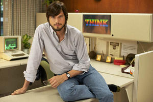 "Ashton Kutcher as Steve Jobs in ""jOBS."""