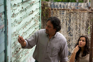 "Jose Caro as Tasador and Cristina Rodlo as Ana in ""The Condemned."""