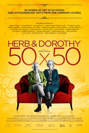 "Poster art for ""Herb & Dorothy 50X50."""