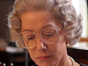 "Dame Helen Mirren in ""The Queen."""
