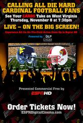 ESPN: Louisville Cardinals vs. West Virginia Mountaineers showtimes and tickets