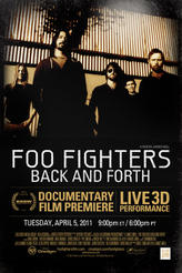 Foo Fighters Back and Forth: Live 3D showtimes and tickets