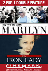 2 for 1 - My Week with Marilyn / Iron Lady showtimes and tickets