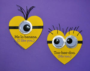 4 Cute Movie-Character Cards That Say I Love You