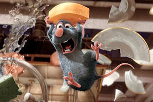 "Remy (voiced by Patton Oswalt) in ""Ratatouille."""