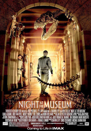 "Poster art for ""Night at the Museum."""