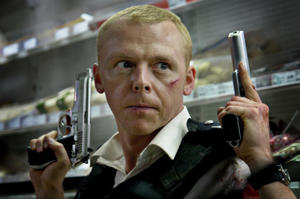 "Simon Pegg in ""Hot Fuzz."""