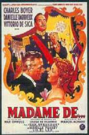 "Poster art for ""The Earrings of Madame de."""