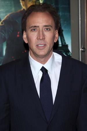 "Actor Nicolas Cage at the N.Y. premiere of ""National Treasure: Book of Secrets."""