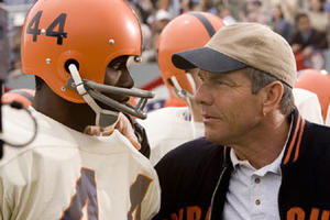 """Rob Brown and Dennis Quaid in """"The Express."""""""