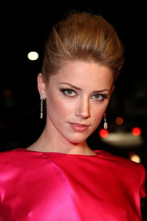 "Actress Amber Heard at the Hollywood premiere of ""Never Back Down."""