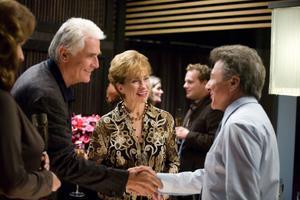 "Dustin Hoffman as Harvey Shine, Kathy Baker as Jean and James Brolin as Brian in ""Last Chance Harvey."""
