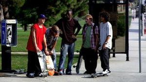 "Ryan Dunn, Compton Ass Terry, Rob Dyrdek and Paul Rodriguez Jr. in ""Street Dreams."""
