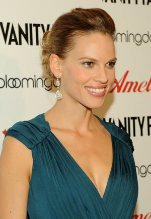 "Hilary Swank at the New York premiere of ""Amelia."""