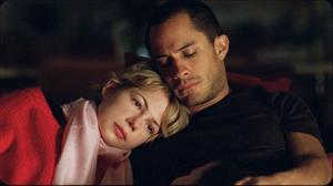 "Michelle Williams as Ellen and Gael Garcia Bernal as Leo in ""Mammoth."""