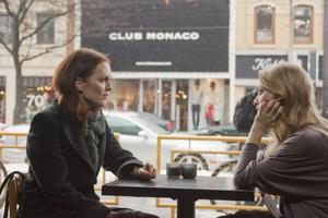 "Julianne Moore as Catherine and Amanda Seyfried as Chloe in ""Chloe."""