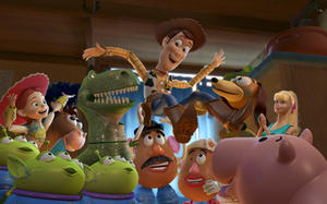 """A scene in """"Toy Story 3."""""""