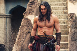 "Jason Momoa as Conan in ""Conan the Barbarian."""