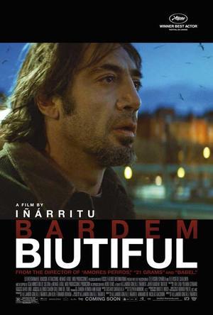 "Poster art for ""Biutiful."""