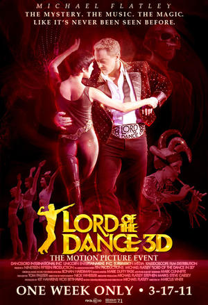 """Poster art for """"Lord of the Dance 3D."""""""