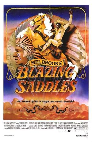 """Poster art for """"Blazing Saddles."""""""