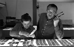 """Ray Eames and Charles Eames in """"Eames: The Architect & the Painter."""""""