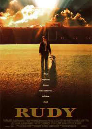 "Poster art for ""Rudy."""