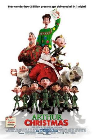 """Poster art for """"Arthur Christmas 3D."""""""