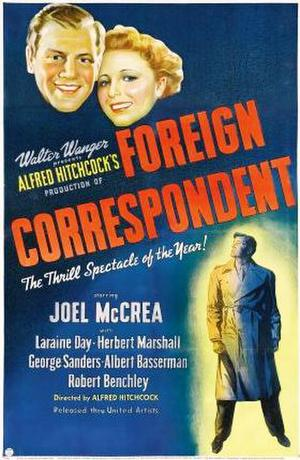 """Poster art for """"Foreign Correspondent."""""""