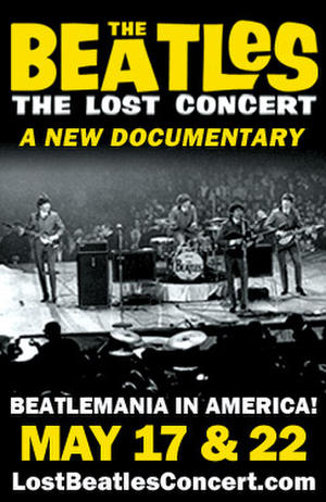 "Poster art for ""The Beatles: The Lost Concert."""