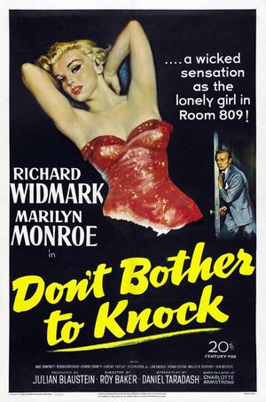 "Poster art for ""Don't Bother to Knock."""