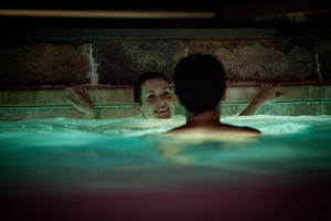 "Melanie Lynskey and Christopher Abbott in ""Hello I Must Be Going."""