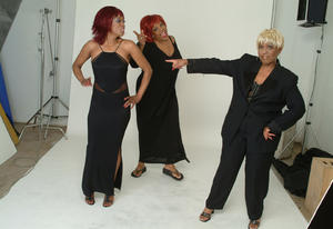 """Myrna Smith, Portia Griffin and Estelle Brown in """"This Time."""""""